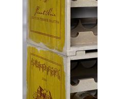 ts-ideen Botellero apilable de madera shabby look para 12 botellas de vino