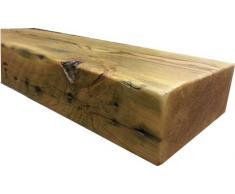 Regenerado grueso flotante estante estantes de madera 4 ft rústico cera Forest marrón