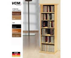 VCM Vostan-Torre para CD/DVD, para 150 CDs, sin Puerta de Cristal, Color Cerezo