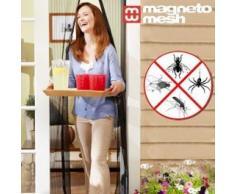 Hasëndad Cortina Magnética Anti Insectos, Tejido de Rejilla, Negro, 120 x 90 cm