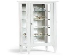 Vitrina 1 puerta, estilo clásico, madera maciza y MDF - 50X34X140H 100% made in italy