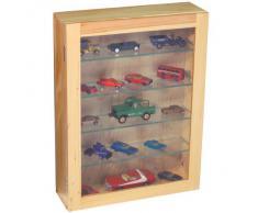 COLLECTION - Vitrina de coleccionista con cristal 4 baldas - color madera clara