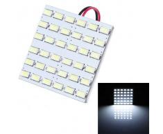T10 BA9S Festoon 10W LED lampara de lectura del coche Blanco 800lm 36-SMD (12V)
