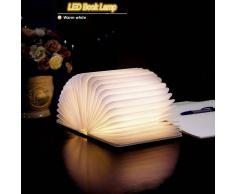 Blanco calido LED plegable USB LED lampara de libro libro de luz