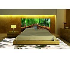 Cabecero Cama PVC Camino Bambú | Varias Medidas 115x100cm | Fácil colocación | Decoración Habitación | Motivos paisajísticos | Naturaleza | Urbes Diseño Profesional