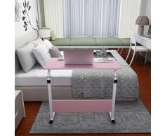 KHSKX Moda abatible portátil de Mesa, Cama extraíble elevación Escritorio, Pink