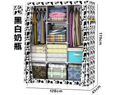 WJP modernos armarios simplificada de tela de refuerzo de bricolaje armario ropero W-91