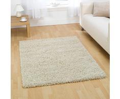 """Alfombra peluda alfombra signicase 5 cm largo - suave y cálido - sala de estar/Dormitorio para colgar, polipropileno, crema, 60x110cm (2'0""""x3'6"""")"""