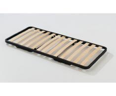 Somier plegable con ruedas y 13 láminas de madera de haya 80x190 cm