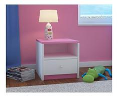 Children's Beds Home Mesita de Noche para niños Babydreams para niños, niños, Junior (Rosa, 40x40x30)