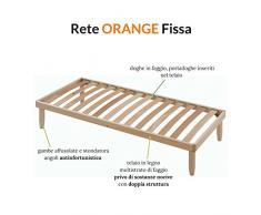 EvergreenWeb - Somier 85x200 para cama a láminas de madera H 35 cm - ortopédico travesera Central, resina de sin sustancias nocivas, ideal para todos tipos de camas y colchones indio - Modelo Orange