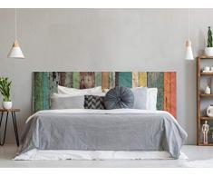 Cabecero Cama PVC Impresión Digital | Imitación Madera Multicolor Antigua 150 x 60 cm | Cabecero Original y Económico