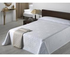 Sabanalia Giovanna - Colcha de piqué (disponible en varios tamaños y colores), Cama 135 - 230 x 280, blanco