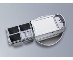 Hailo 3647141 basura Rondo 90.4/34 3647 14 sistema con extensión completa para instalación de 90 x 90 cm armario de esquina, gris