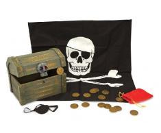 Melissa & Doug - Cofre de madera de pirata (12576)