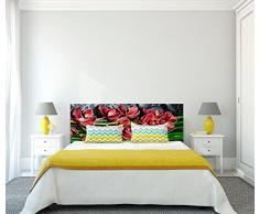 Cabecero Cama PVC Impresión Digital Flores Bambú 100 x 60 cm | Disponible en Varias Medidas | Cabecero Ligero, Elegante, Resistente y Económico