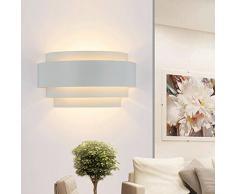 Maxmer Apliques de Pared Bañadores de Pared Luz de Pared 5W Iluminación para Dormitorio, Studio, Hogar Decoración, Porche, Blanco Cálido