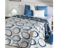 Sancarlos - Colcha juvenil sila azul - doble tela - reversible - esquinas redondeadas - cama 150, 250x270 cm - azul
