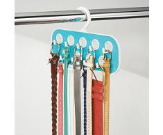 InterDesign 62841EU Remy - Organizador de armario para cinturones y bijouterie, provisto de 9 ganchos y 9 bucles