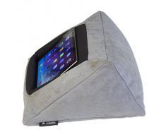 sostenedor del soporte de la almohadilla del amortiguador del iPad (GRIS) para el iPad y otros dispositivos de la tablilla. Uso alrededor del hogar, en cama o en el escritorio. Avoid iPad RSI and iPad Shoulder