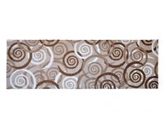 Alfombrilla LifeStyle 100369 Espirales, alfombra antideslizante y lavable, ideal para el armario, la cocina o el dormitorio, 50 x 150 cm, marrón / beis / blanco