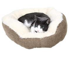 Trixie 37041 Yuma – peluche, diseño de perro cama Ø 45 cm marrón/blanco