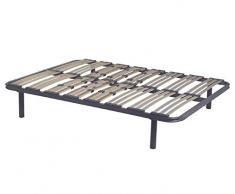 MIVIS - Somier de acero multilaminas de abedul, tamaño 150 / 200 cm, color gris