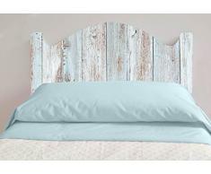 Cabecero Cama PVC Impresión Digital Imitacion Madera Marron 150 x 60 cm | Disponible en Varias Medidas | Cabecero Ligero, Elegante, Resistente y Económico