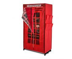 Armario para ropa de tela con el diseño inglés de una cabina telefónica aprox. Ancho 87 x fondo 45 x altura 157 rojo
