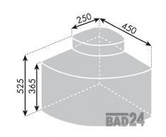 Armario esquinero de basura Cabbi 3 técnica de giro 3 Depósito
