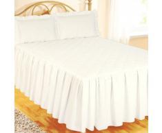 Colcha de Algodón Egipcio de Lujo para Cama Tamaño King Size - 100% Algodón Egipcio/Algodón/Algodón Egipcio, Blanco