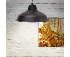 Lampara cologante, estilo industrial, zócalo E27, base de madera para el techo