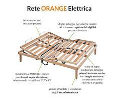 Naranja Eléctrico somier de madera Base de cama doble tamaño – 4 ft4 x 6 FT3 (135 x 190 cm)