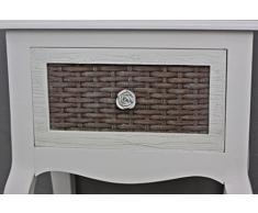 Mesilla de noche beige Rose mesa auxiliar blanco mesa auxiliar de madera shabby