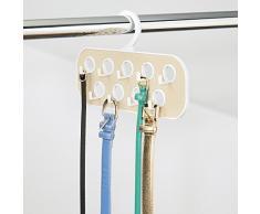 InterDesign 62840EU Remy - Organizador de Armario para Cinturones y bijouterie, provisto de 9 Ganchos y 9 bucles