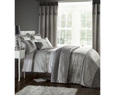 Catherine Lansfield - Juego de ropa de cama (funda de edredón de 135 x 200 cm y 1 fundas de almohada de 50 x 75 cm, 50% poliéster, 50% algodón), color plateado