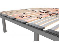 LA WEB DEL COLCHON Somier Multiláminas Regulador 135 x 180 x 5 cms. (5 Patas Incluidas)