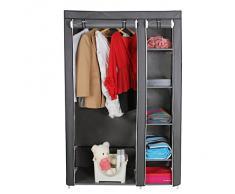Songmics Armario de tela para ropa organizador textil plegable color gris 175 x 110 x 45 cm LSF007G