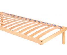 TGB somier ortopédico Fijo de láminas de madera de haya con PURO juntas antiruido singola 90x190