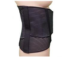 Soporte Ortopédico Steccato Banda Cinturón con Somier 6 negro Talla:5° (54-56)