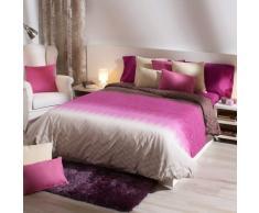 Sancarlos - Folk Funda nórdica, bajera ajustable y funda de almohada, fácil planchado, color rosa