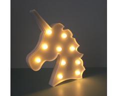 Dulce Unicornio LED Lámparas de mesa y mesilla de noche Iluminación infantil nocturna Luces nocturnas Luces de estado de ánimo Lámparas Enfermería Cuarto del bebé Decoración Luces de escritorio