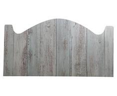 Cabecero Cama PVC Impresión Digital Imitacion Madera marron 200 x 60 cm | Disponible en Varias Medidas | Cabecero Ligero, Elegante, Resistente y Económico