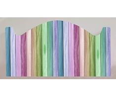 Cabecero Cama PVC Impresión Digital Imitación madera multicolor 100 x 60 cm | Disponible en Varias Medidas | Cabecero Ligero, Elegante, Resistente y Económico