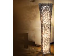 Naeve Leuchten 235314 - Lámpara de pie (21 x 21 x 118 cm), diseño de cesto, color marrón