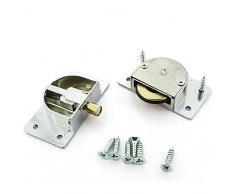 YuanQian YQ-1063 338 - Rodamiento de puerta corredera de armario, rueda de nailon