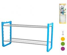 ARTEX Combi zapatero de 2 pisos, metal, surtidos, 70 x 25 x 35 cm