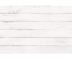 Cabecero Cama Pegasus Impresión Digital Imitación Madera 150 x 60 cm | Disponible en Varias Medidas | Color Blanco | Cabecero Ligero, Elegante, Resistente y Económico