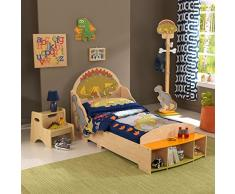 KidKraft 86937 Cama Infantil Diseño Dinosaurios de Madera, Multicolor