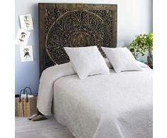 Tolrà Boutie Primavera Prestige - Colcha para cama 150, incluye 2 funda de cojín, color blanco